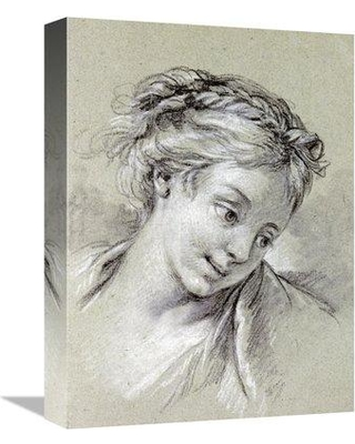 """East Urban Home 'Head of a Girl Looking Down To The Right' Graphic Art Print on Canvas ERBS8330 Size: 30"""" H x 22"""" W x 2"""" D"""