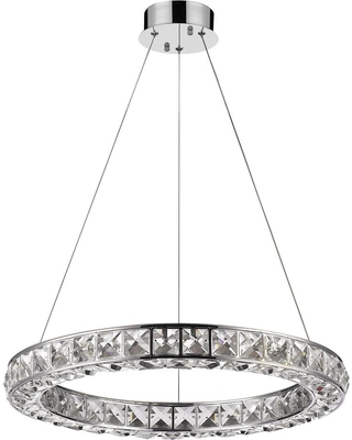 Acclaim Lighting Noemi 125-Watt Equivalence Chrome Integrated LED Crystal Ring Chandelier