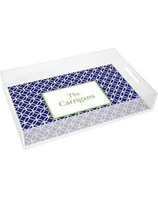 Kelly Hughes Designs Everyday Tabletop Clover Lucite Tray tray917