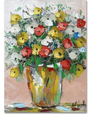 """Red Barrel Studio Spring Flowers in a Vase 6 Painting Print on Wrapped Canvas RDBS4750 Size: 19"""" H x 12"""" W x 2"""" D"""