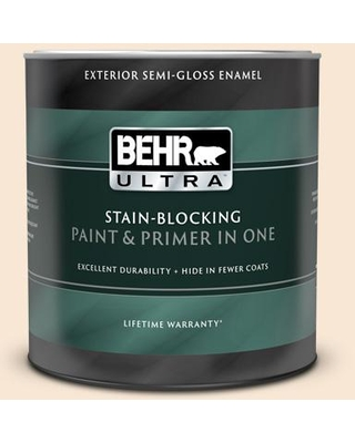 BEHR ULTRA 1 qt. #PPU4-09 Cafe Cream Semi-Gloss Enamel Exterior Paint and Primer in One