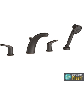 American Standard T075921.278 Colony PRO Roman Tub Faucet with Personal Shower for Flash Rough-In Valves Legacy Bronze