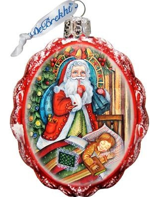 The Holiday Aisle Christmas Night Glass Ornament THLY6673