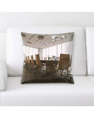 East Urban Home Conference Room Throw Pillow W000296910