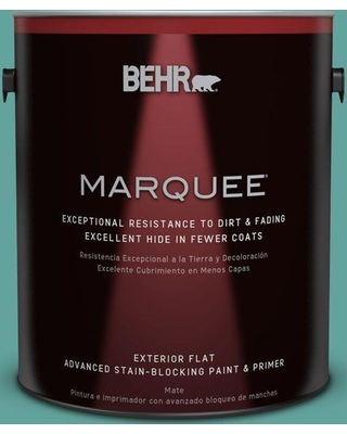 BEHR MARQUEE 1 gal. #M450-5 Aqua Rapids Flat Exterior Paint and Primer in One