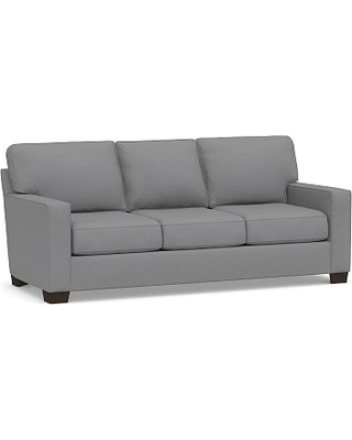 Buchanan Square Arm Upholstered Deluxe Sleeper Sofa, Polyester Wrapped Cushions, Textured Twill Light Gray