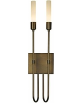 """Hubbardton Forge Lisse 2-Light 22 1/4"""" High Wall Sconce"""