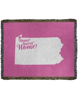 Find Savings On East Urban Home Home Sweet Erie Woven Cotton Throw Cotton In Pink Size 37 W X 52 L Wayfair 1ceebbeff89a4fdd96116e3856b9ccc4