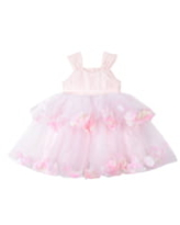 Girl's Pippa & Julie Tiered Petal & Tulle Party Dress, Size 5 - Pink