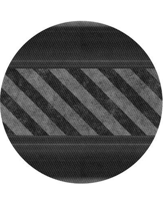 East Urban Home Abstract Wool Gray Area Rug X113647444 Rug Size: Round 4'