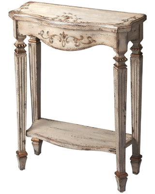 Butler Cheshire Guilded Cream Painted Console Table