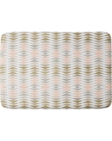 "Georgiana Paraschiv Triangles Cushion Bath Mat (36""x24"") - Deny Designs, Pink"