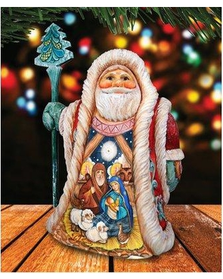 New Deals On The Holiday Aisle Fifield Holy Regal Santa Sculpture Derevo Collection Resin In Gold Beige Size 6 H X 3 W X 3 D Wayfair