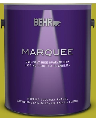 BEHR MARQUEE 1 gal. #P340-6 Green Neon Eggshell Enamel Interior Paint and Primer in One