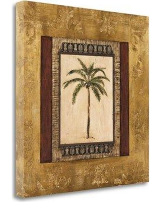 """Tangletown Fine Art 'Stately Palm II' Graphic Art Print on Wrapped Canvas CAMMP414-2020c Size: 35"""" H x 35"""" W"""