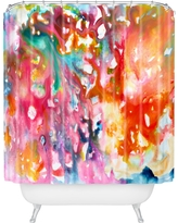 """Stephanie Corfee Fast and Loose Shower Curtain (71""""x74"""") Daring Pink - Deny Designs"""