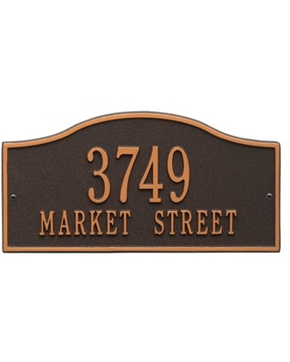 Personalized Whitehall Products Rolling Hills Standard Wall Address Plaque in Oil Rubbed Bronze