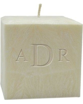 Carved Solutions Personalized II Unscented Pillar Candle EL4C-TNR-Mono