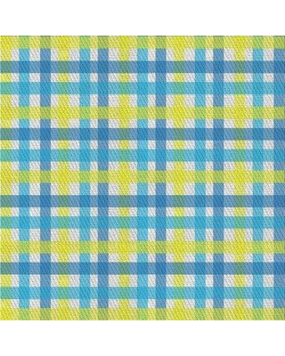 East Urban Home Patterned Green/Blue Area Rug X111314920 Rug Size: Rectangle 2' x 3'