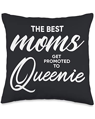 Queenie Gifts Best Moms Get Promoted to Throw Pillow, 16x16, Multicolor