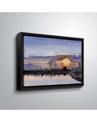 """Charlton Home 'Simple Roses 2' Print on Wrapped Canvas CHRL5372 Format: Black Framed Size: 18"""" H x 24"""" W x 2"""" D"""
