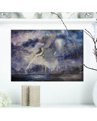 """East Urban Home Contemporary 'Stormy Dark Night Sky' Graphic Art Print on Wrapped Canvas FUVD1280 Size: 12"""" H x 20"""" W x 1"""" D"""