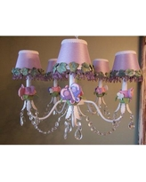 Silly Bear Lighting Flutter Butterfly 5-Light Shaded Classic / Traditional Chandelier TC03-PR-5A- Shade: Simply Lavender