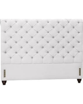 Chesterfield Upholstered Headboard, King, Twill White