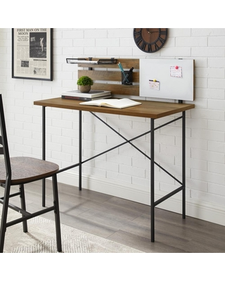 Discover Deals On Welwick Designs 42 In Rectangular Reclaimed Barnwood Writing Desks With Storage