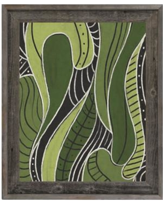 Click Wall Art Click Wall Art Tribal Motions Green Framed Painting Print on  Canvas CBS0002132FRABST Size: 33 5