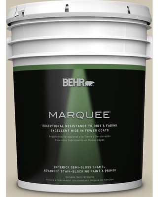 BEHR MARQUEE 5 gal. #ecc-14-1 Scenic Path Semi-Gloss Enamel Exterior Paint and Primer in One