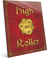 "Click Wall Art High Roller Painting Print in Ruby Gold GRM0000127ACR Size: 20"" H x 16"" W x 1"" D"