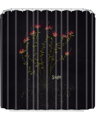 East Urban Home Sage Shower Curtain UNFP2411