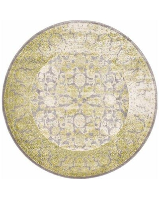 RugPal Classique Geometric Lime Rug 185 Rug Size: Round 6'