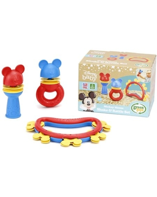 Green Toys Disney Baby Mickey Mouse Shake & Rattle Set