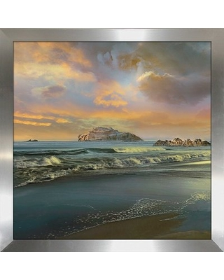 """'Daybreak' Framed Graphic Art Print Bay Isle Home Size: 27.5"""" H x 27.5"""" W x 0.75"""" D, Format: Silver Framed"""