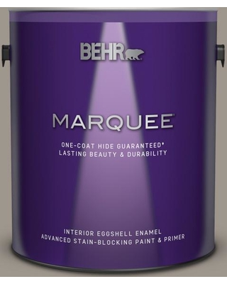 BEHR MARQUEE 1 gal. #PPF-31 Pebbled Path Eggshell Enamel Interior Paint and Primer in One