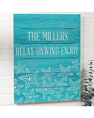 Coastal Home 16x20 Personalized Wood Plank Signs