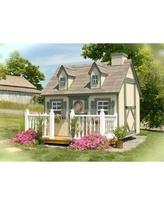 Little Cottage Company Cape Cod Playhouse CCPKF Size: 8' x 10' Loft: Yes Deck and Painted Rail: No