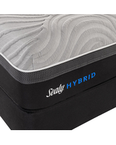 Sealy Hybrid Copper II Firm - Mattress + Box Spring, Queen, White