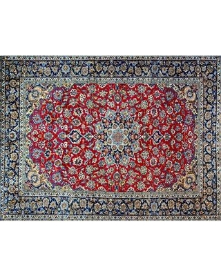 """Isabelline One-of-a-Kind Pitchford Hand-Knotted 8'2"""" x 10'10"""" Blue/Red Area Rug W000336005"""