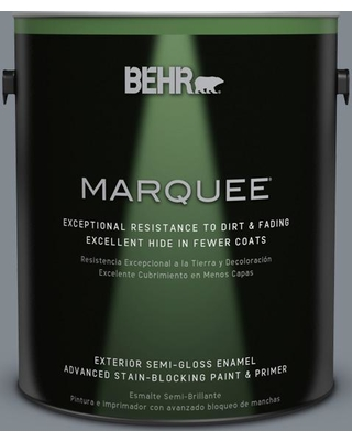 BEHR MARQUEE 1 gal. #PPU26-21 Overcast Semi-Gloss Enamel Exterior Paint and Primer in One