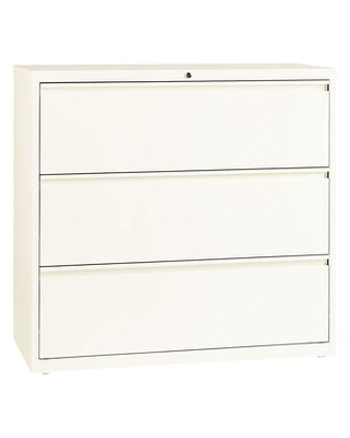 Lorell 3-Drawer Lateral File Cabinet, Locking, Letter/Legal, Beige, 42W (LLR22956)   Quill