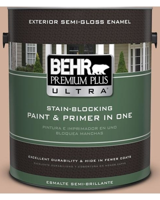 BEHR ULTRA 1 gal. #S200-3 Iced Copper Semi-Gloss Enamel Exterior Paint and Primer in One