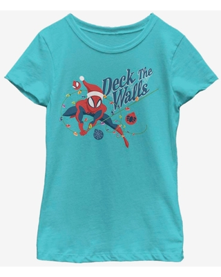 Marvel Spider-Man Deck The Walls Youth Girls T-Shirt