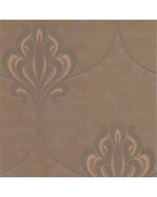 """Brewster Home Fashions Decadence Orfeo Nouveau 33' x 20.5"""" Damask 3D Embossed Wallpaper DL30643 Color: Brown"""