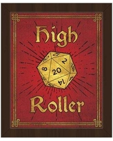 """Click Wall Art High Roller Framed Painting Print on Canvas in Ruby Gold GRM0000127FRM Size: 11"""" H x 14"""" W, Format: Espresso Framed"""