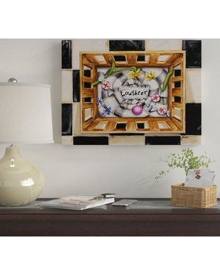 """Winston Porter 'Laughter' Acrylic Painting Print on Wrapped Canvas WNST7012 Size: 35"""" H x 47"""" W x 2"""" D"""