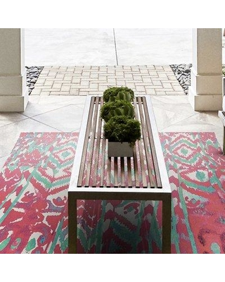 World Menagerie Florus Hand Woven Melon Indoor/Outdoor Area Rug WRMG1117 Rug Size: Rectangle 4' x 6'