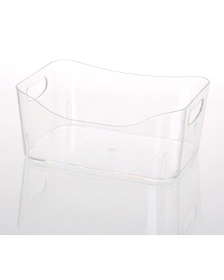 Ybmhome Open Bin Storage Basket Kitchen Pantry, Beauty Product Supply Organizer, Under Cabinet Caddy Clear (Size)